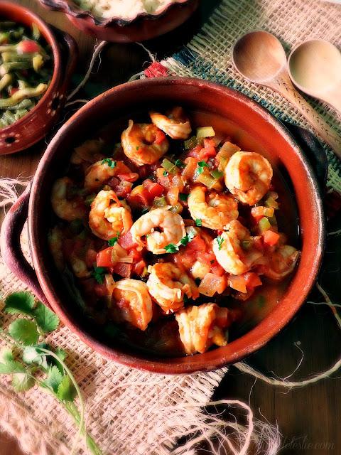 Camarones a la Mexicana - lacocinadeleslie.com