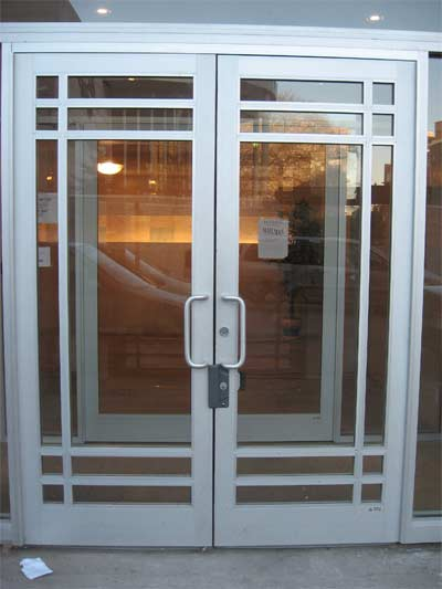 Larry aluminium technology for Office glass door entrance designs