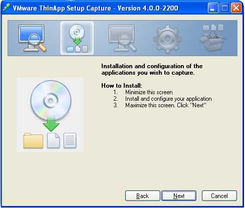 Sekarang install program yang akan kita buat menjadi portable