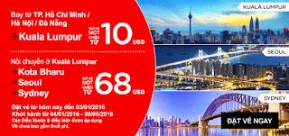 Vé máy bay đi Kuala Lumpur chỉ 10 USD ~ khuyến mãi Air Asia cuối năm