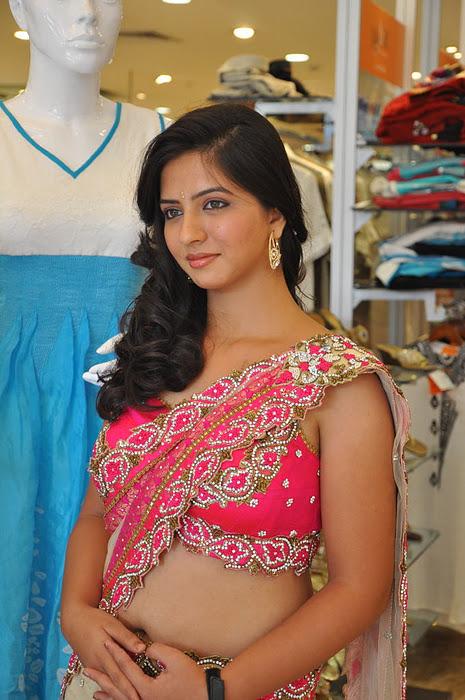 South New Desi Actress Nisha Shah Latest Cute Saree Photos sexy stills