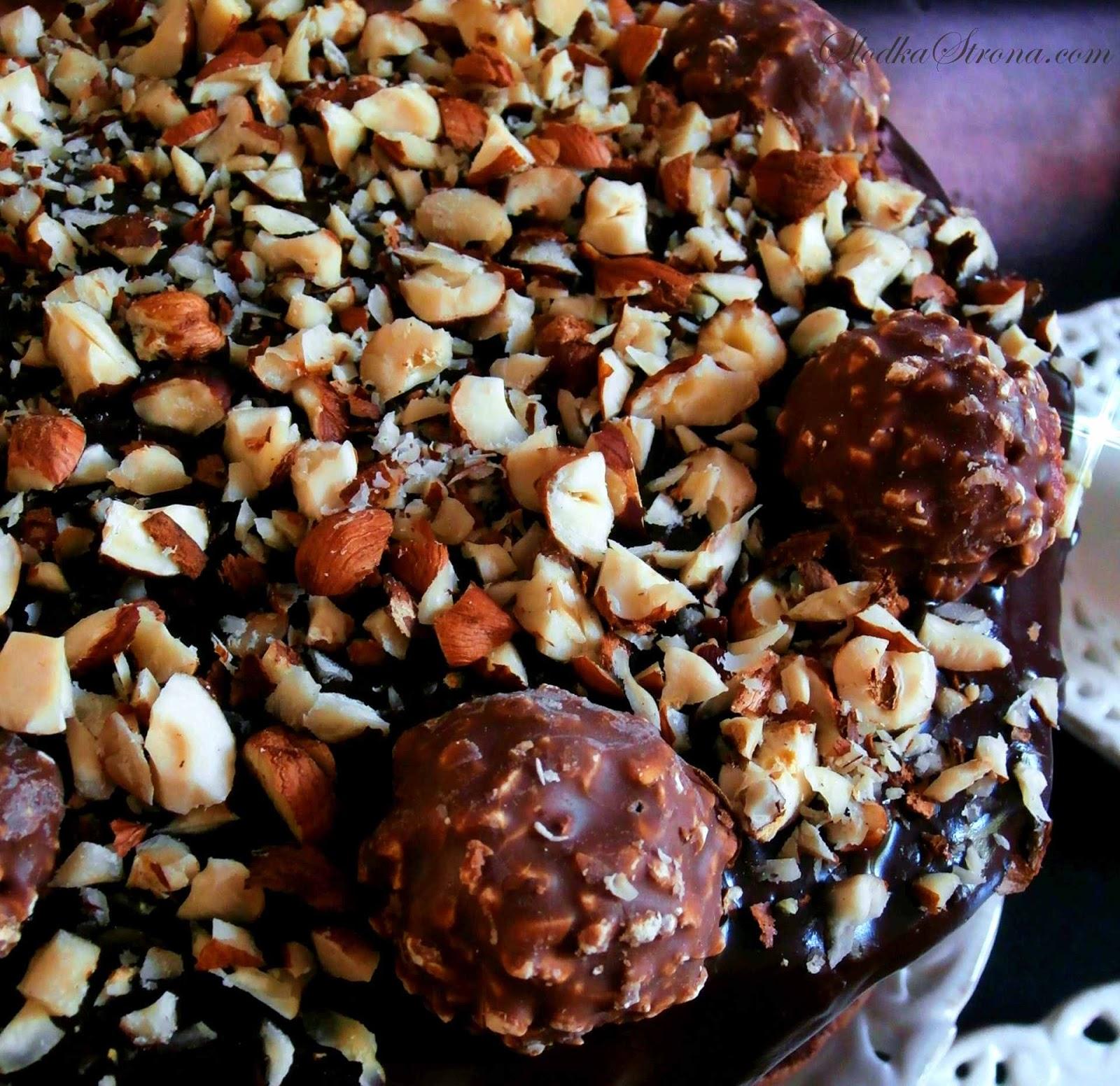 Tort Ferrero Rocher - Przepis - Słodka Strona