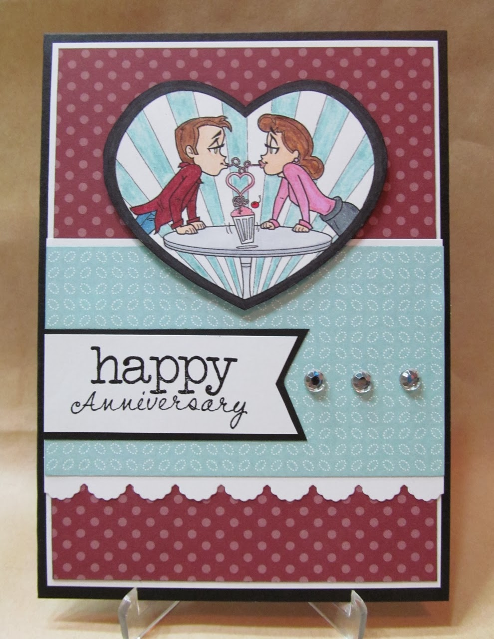 Savvy handmade cards anniversary card