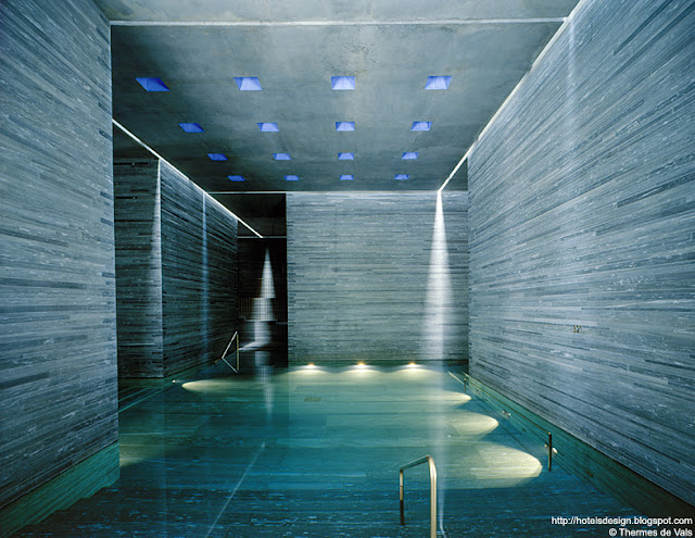 les plus beaux hotels design du monde h tel therme vals by peter zumthor vals suisse. Black Bedroom Furniture Sets. Home Design Ideas