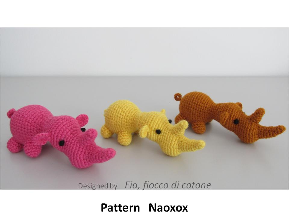 Star Wars Amigurumi Crochet Pattern Free : Fia, fiocco di cotone: pattern Naoxox, rhinoceros ...