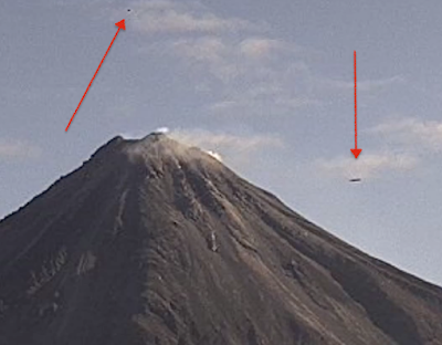 Black Disc UFO Above Mexican Volcano, UFO Sighting News