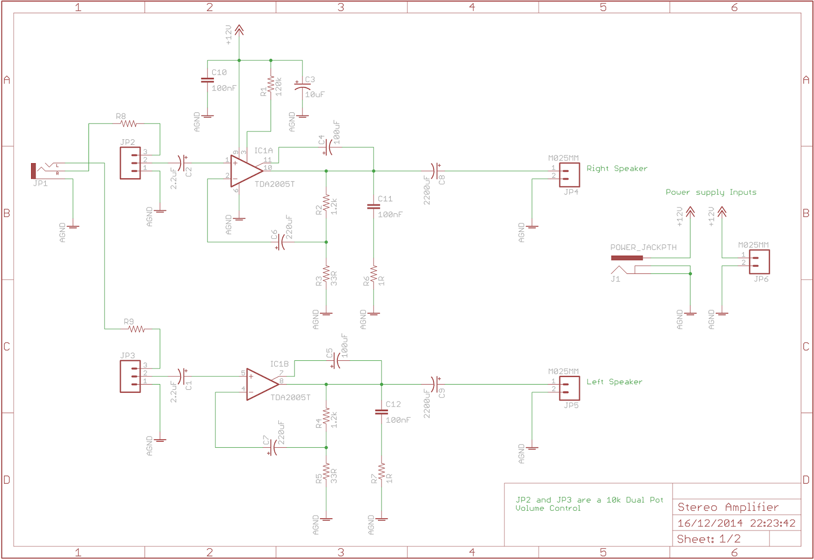 The Answer Is 42 Tda2005 Stereo Amplifier Audio An Lm380 Amplifierchip Used In Following Circuit Easy To Understand Most Of Work Performed By Circuitry Contained Within C1 C2 Are Input Coupling