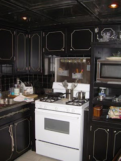 black kitchen cabinets picture