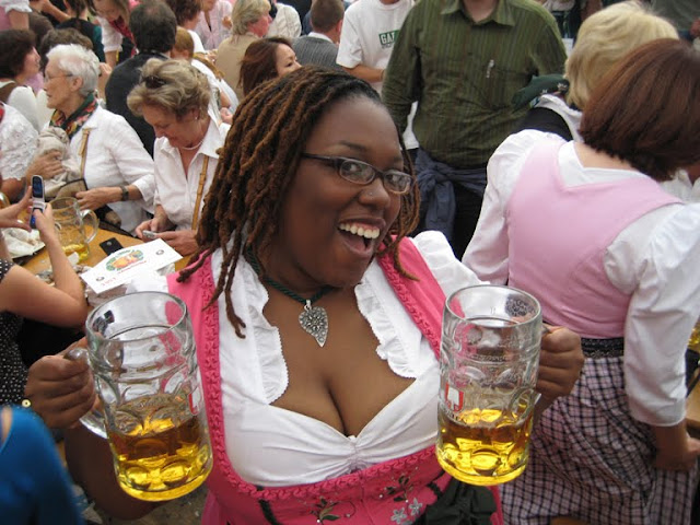Black girl in dirndl