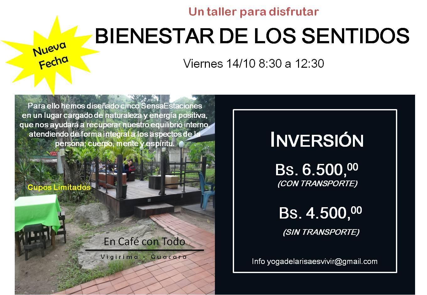 TALLER VIVENCIAL BIENESTAR DE LOS SENTIDOS