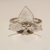 Silver orchid ring - springjewellery