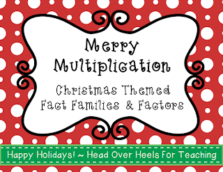 http://www.teacherspayteachers.com/Product/Merry-Multiplication-Christmas-Themed-Fact-Families-Factors-Freebie-984325