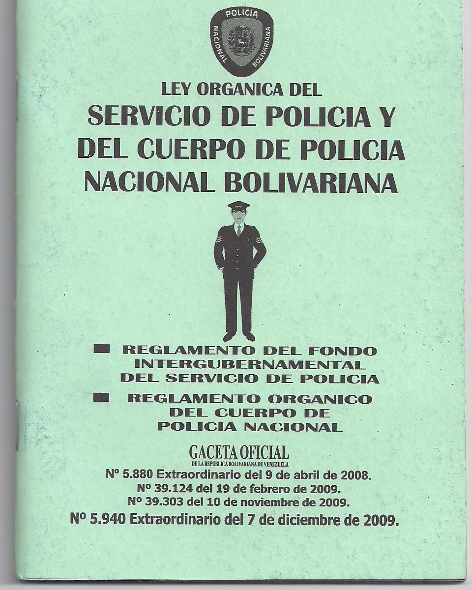 Compremos Un Libro Ley Org Nica Del Servicio De Polic A Y