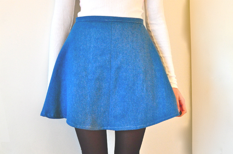 bleached mort: DIY Denim Circle Skirt