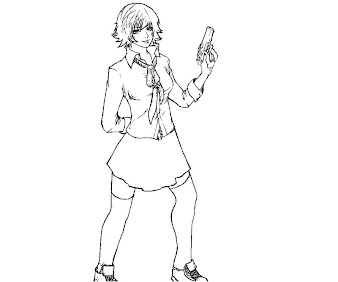 #2 Lady DMC Coloring Page