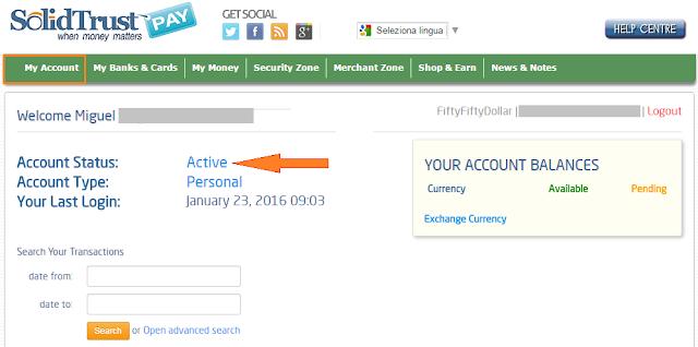 Cómo verificar la cuenta de SolidTrusPay (STP)
