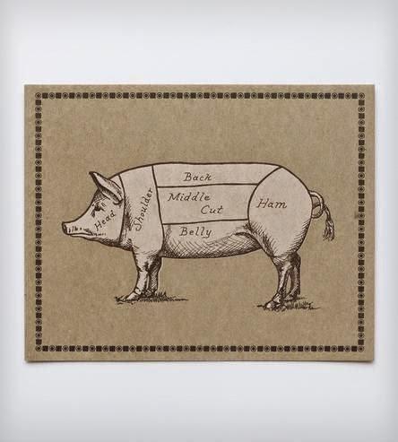 tema de festa porco e carne suína