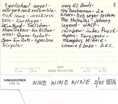 Wine Wine Wine 3/05 Mix Tape