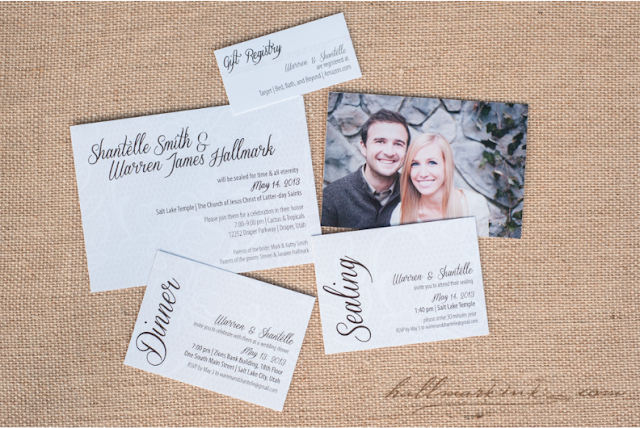 W&S wedding invitations by HallmarkInk.com