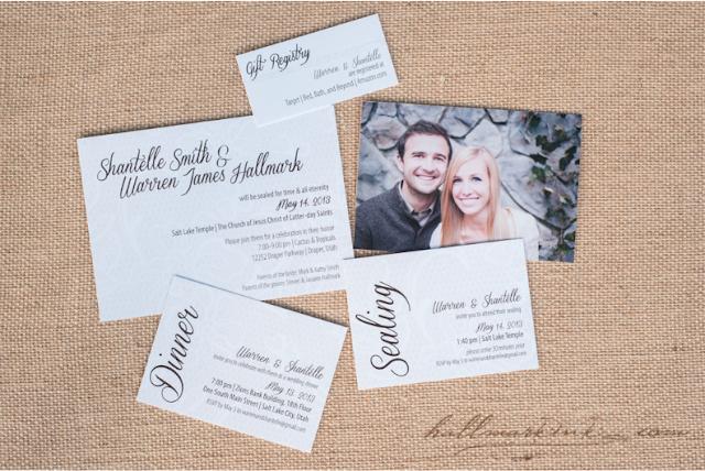 W&S wedding invitations by HallmarkInk.com