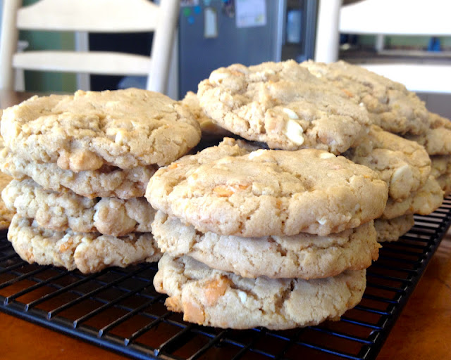 Butterscotch White Chocolate Oatmeal Cookies