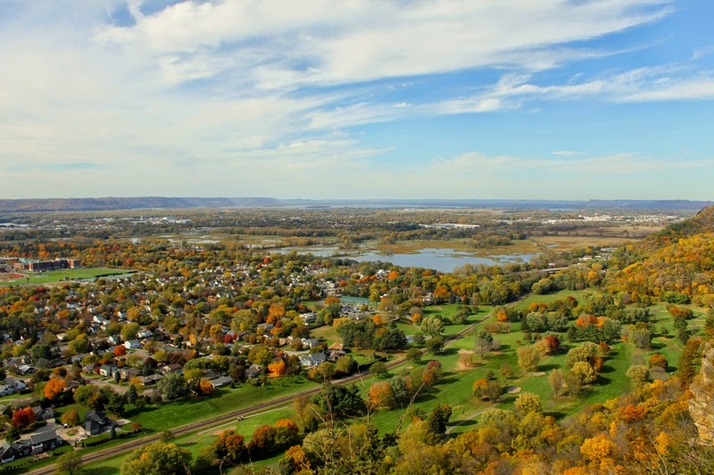 a panoramic view awaits you at Grandad Bluff Park, La Crosse, WI