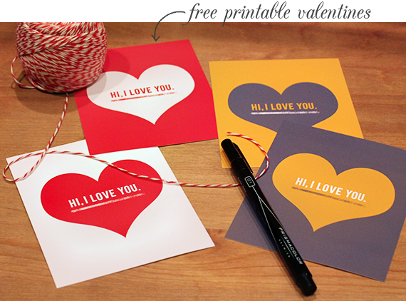 Free Printable Valentines // Bubby and Bean