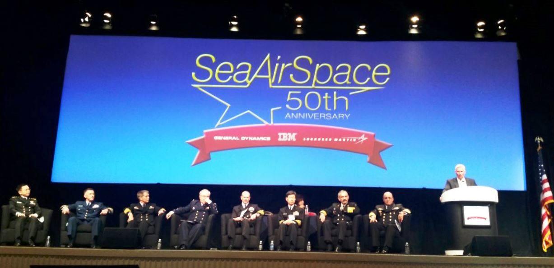 El señor Almirante Hernando Wills Vélez, Comandante de la Armada Nacional hizo parte del pánel de expertos que realizaron ponencias en el Sea Air Space Exposition 2015.