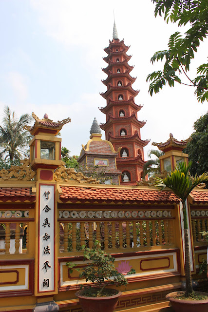 It's so close seeing the oldest pagoda as I walked toward Budhhist temple at Tran Quoc Pagoda in Hanoi, Vietnam
