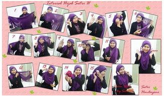 Tutorial Cara Pakai Hijab Modern Syar'i Terbaru 2015