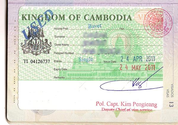 Visado turístico para Camboya