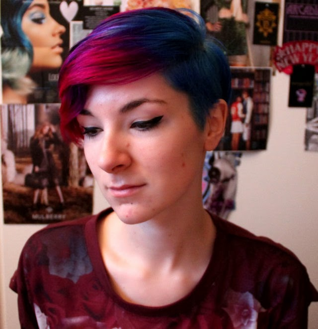 hair dye dyed hair pink hair purple hair blue hair directions la riche crazy color hair dye ombre hair gradient rainbow peacock cool hair inspiration short hair