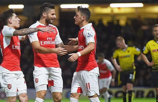 Watford 0 x 3 Arsenal - Premier League 2015/16