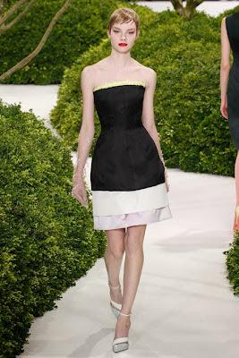 robe corole dior noire et blanche structuré luxe