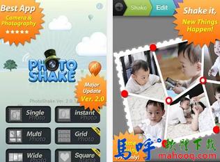 PhotoShake APK / APP Download,好用的手機相片編輯、拼貼軟體,Android APP 下載
