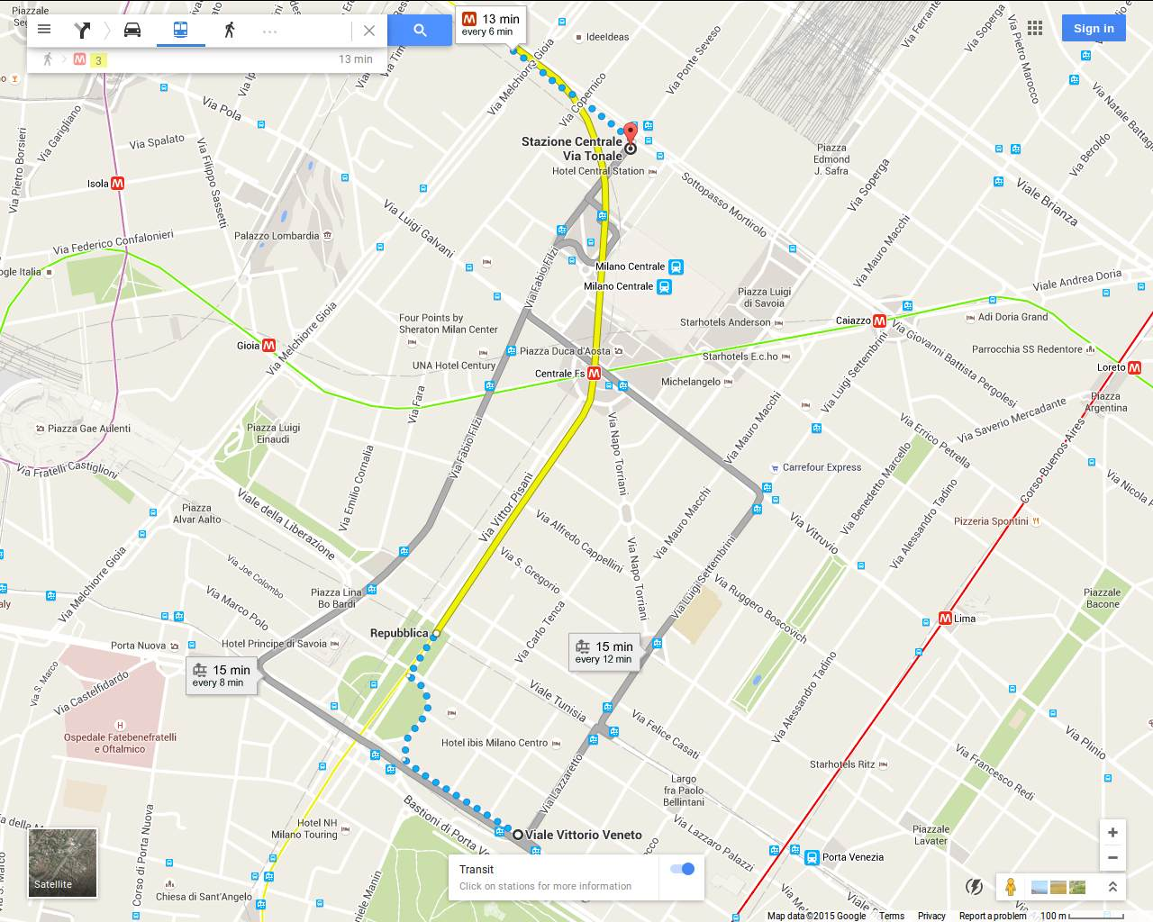 Milan finally Most hotels are around Milano Centrale Station so