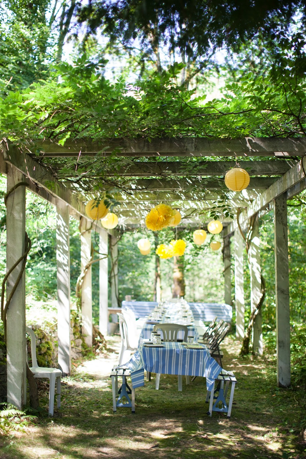 A blue and yellow Summer party