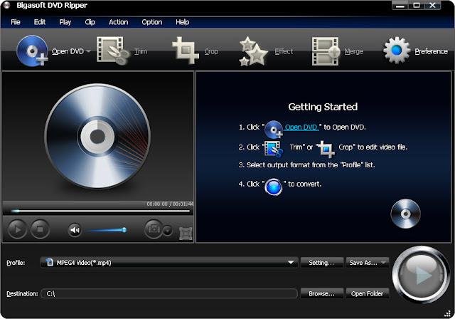 Bigasoft DVD Ripper - граббер видео DVD в форматы для мобильных устройств,