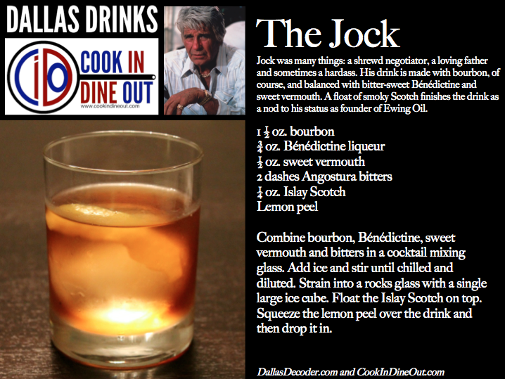 Dallas Drinks The Jock cocktail