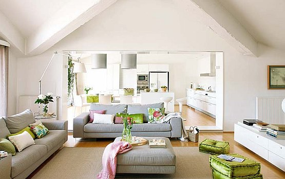 Grey And Green Living Room Ideas