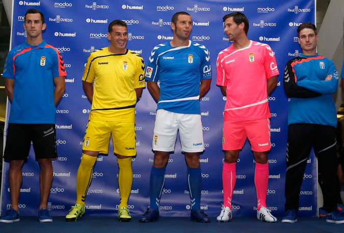 The new Hummel Real Oviedo 15-16 Home Kit comes in the club's ...