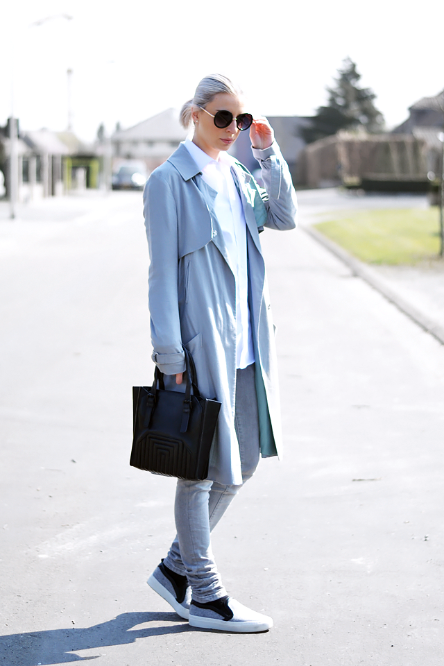 Minimalism, grey outfit, monochrome, mode blogger, belgium, grey mac, trench coat, asos, zara, primark