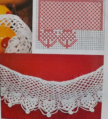 Barrados de Crochê com Gráfico