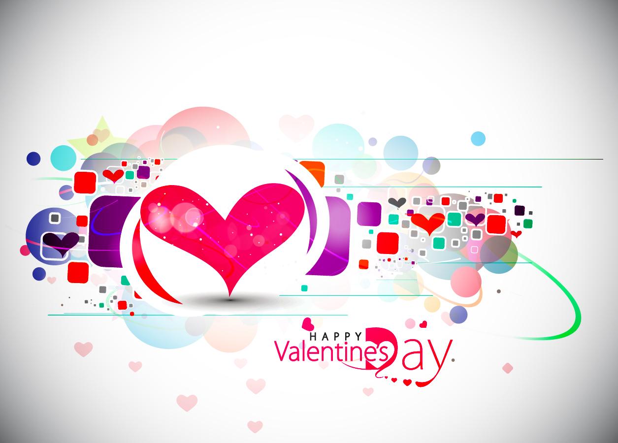 美しいバレンタインデーの背景 beautiful heart-shaped Valentine pattern イラスト素材1