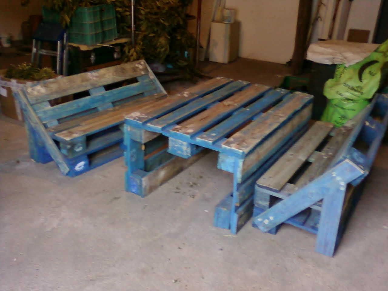 Artesania tina vicho muebles de palets para jardin - Muebles de palets ...