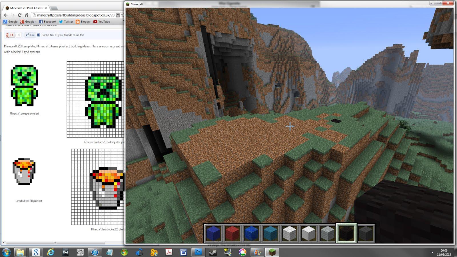 Minecraft Pixel Art How To Minecraft Pixel Art Building Ideas