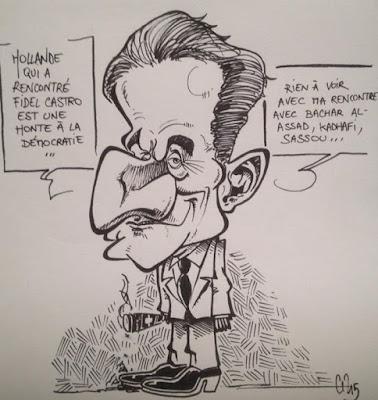 Caricature Sarko - Guillaume Néel ©