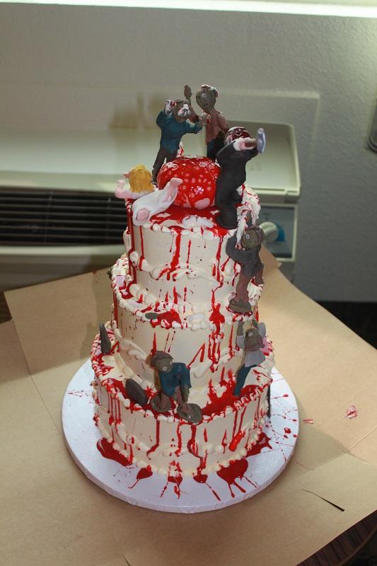 Devanys Designs Zombie Wedding Cake