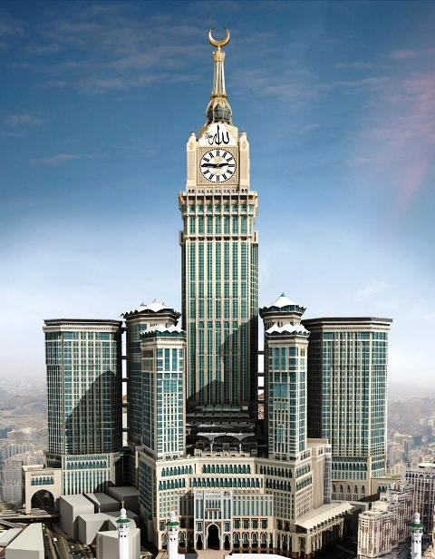 Mecca Clock Tower Is Also Known As Royal Hotel The Largest With 8000 Rooms Located In Saudi Arabia