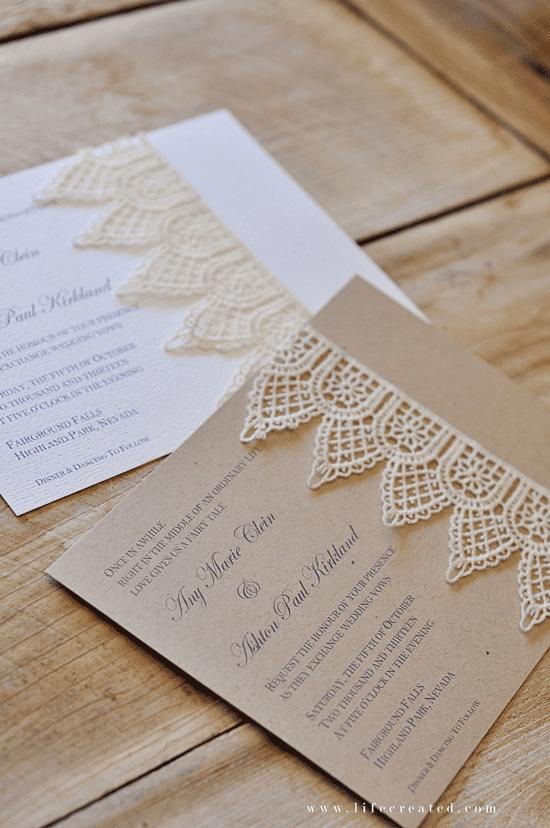 invitaciones de boda handmade